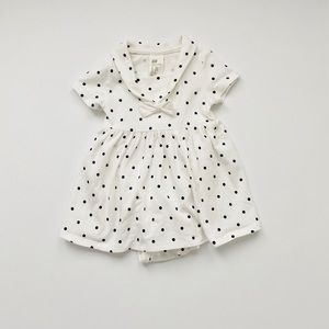 White Dot Baby Sailor Dress (2-4 Months)